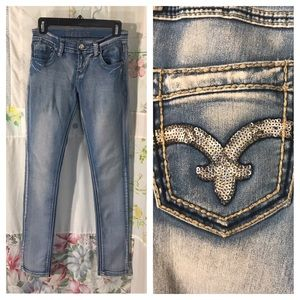 Bamboo - Embellished Stretch Skinny Jeans
